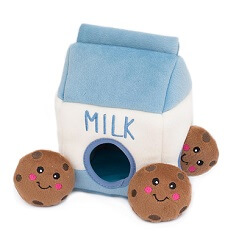 ZippyPaws Milk Cookies Burrow Interactive Dog Toys